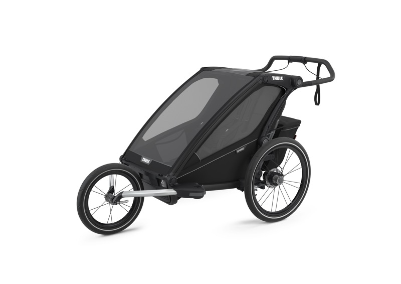 Chariot à vélo Sport 2 Black on Black Roue