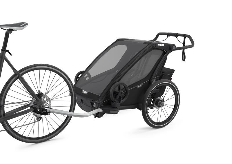 Chariot à vélo Sport 2 Black on Black Vélo