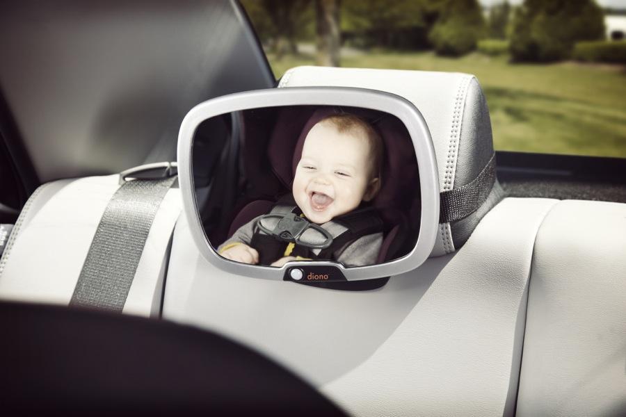 Miroir de surveillance de voiture jour et nuit Easy View Plus silver Diono bébé