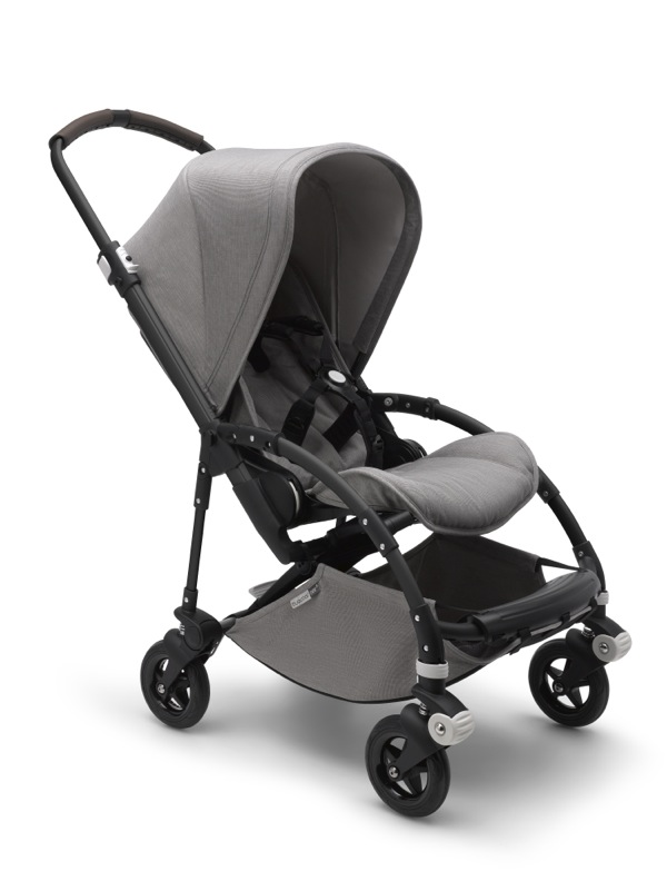 Poussette Bee 5 collection Mineral gris clair Bugaboo