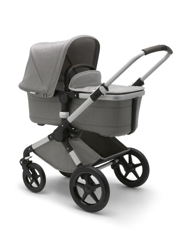 Poussette Fox collection Mineral gris clair Bugaboo nacelle