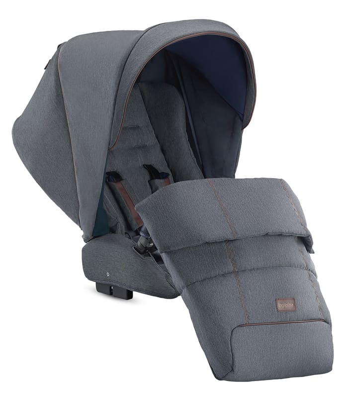 Système Duo Aptica Tailor Denim/Graphite Coffee Inglesina Poussette Couvre-jambes Détail