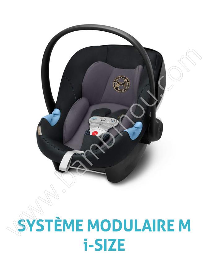 Siege auto Aton M iSize Sensorsafe groupe 0 Premium Black Cybex BamBinou